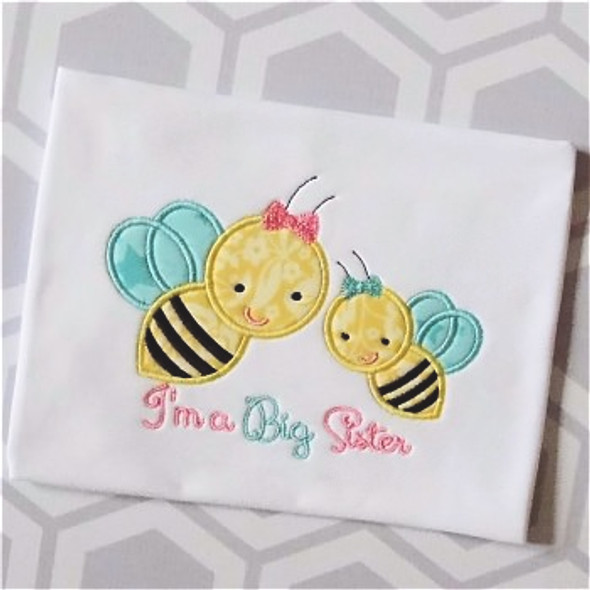 Sibling Bees Applique Machine Embroidery Design