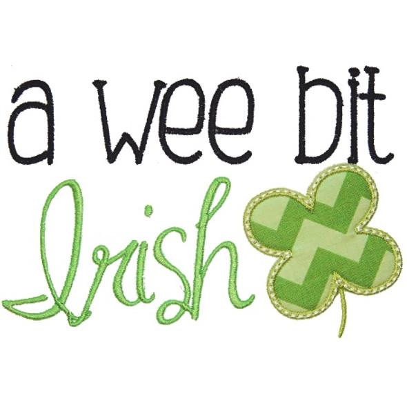 Wee Bit Irish Machine Embroidery Design