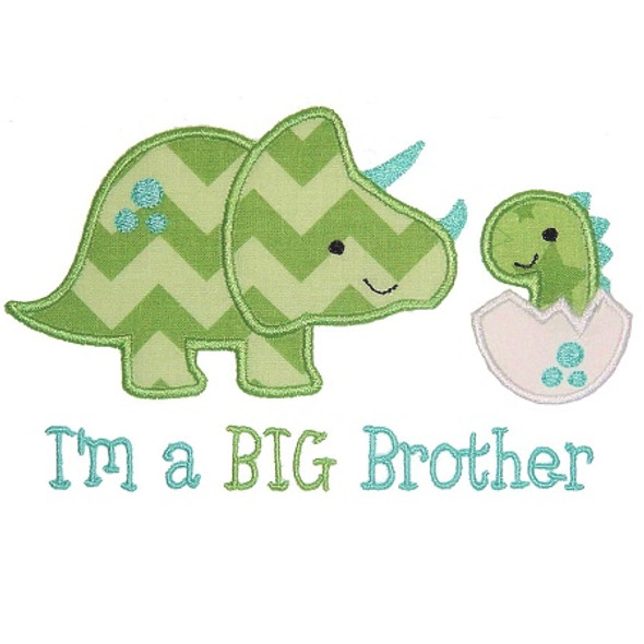 Sibling Dinos Machine Embroidery Design