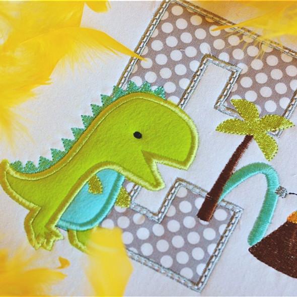 Dino Alpha Machine Embroidery Design