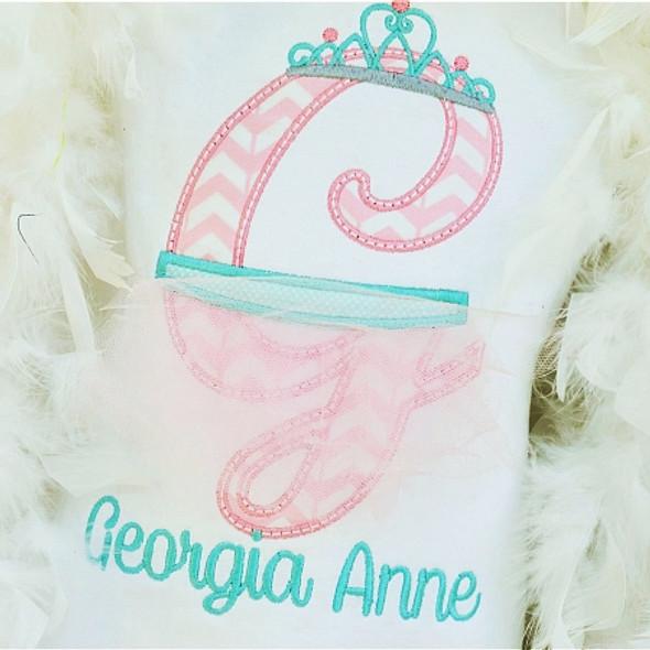 Ballerina Alpha Machine Embroidery Design