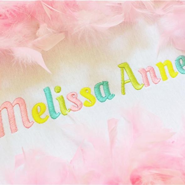 Melissa Font Machine Embroidery Design