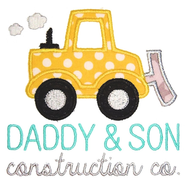 Dad and Son Co Machine Embroidery Design