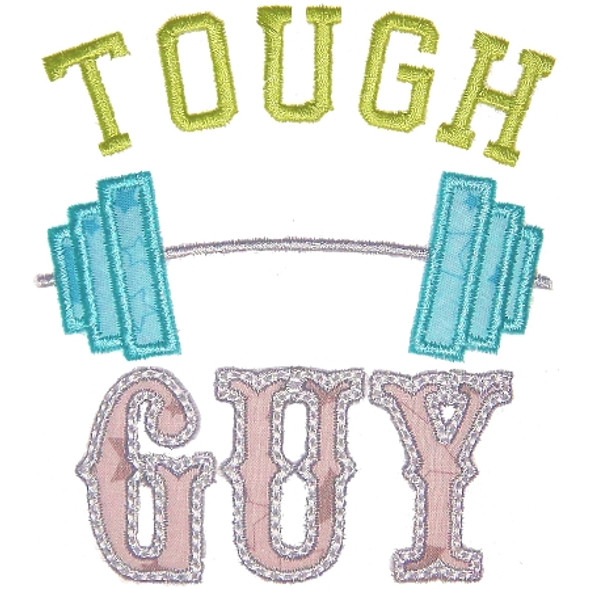 Tough Guy Applique Machine Embroidery Design