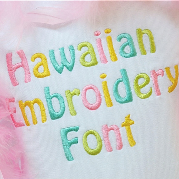 Hawaiian Embroidery Font Machine Embroidery Design