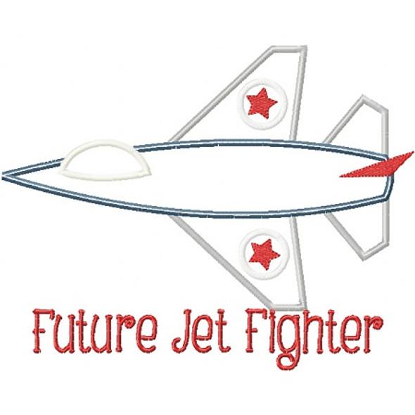 Future Jet Fighter Machine Embroidery Design