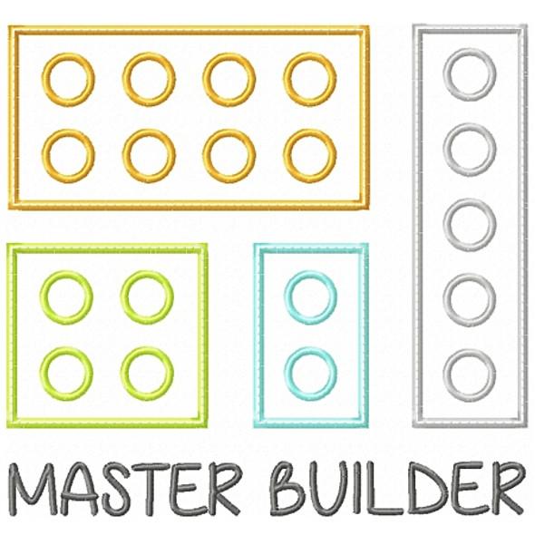 Master Builder Applique Machine Embroidery Design