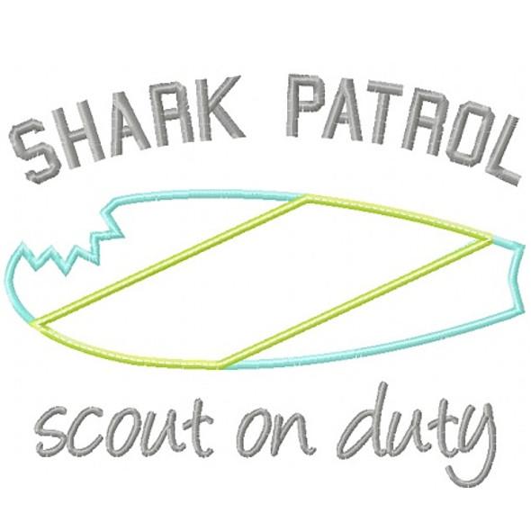 Shark Patrol Applique
