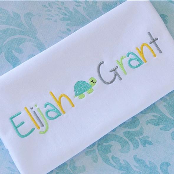 Elijah Font Machine Embroidery Design