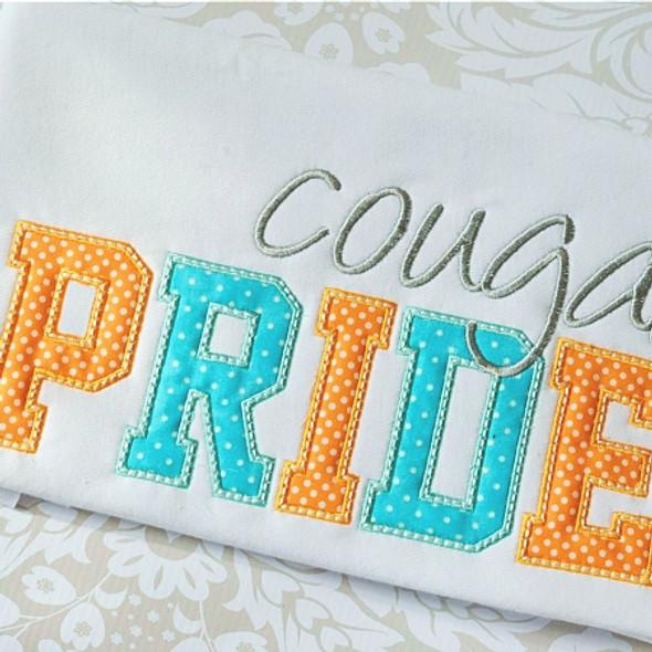 School Pride Set Machine Embroidery Design