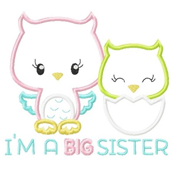 Sibling Owls Applique
