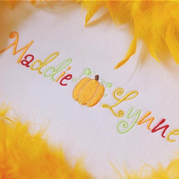 Pumpkin Spice Font Machine Embroidery Design