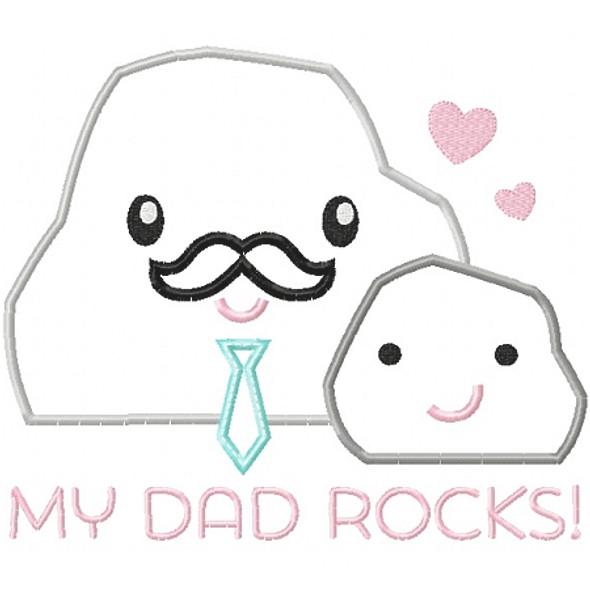 My Dad Rocks 2 Machine Embroidery Design