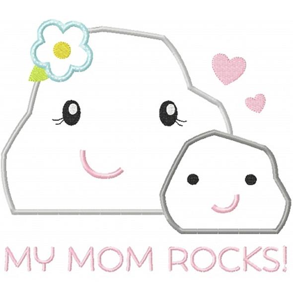 My Mom Rocks 2 Machine Embroidery Design