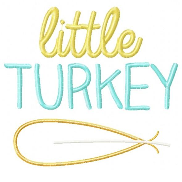 Little Turkey Applique Machine Embroidery Design
