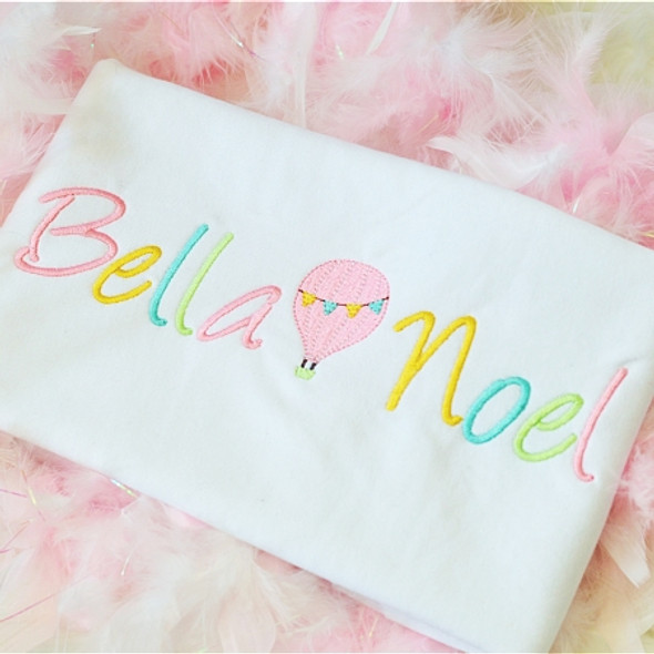 Bella Font Set Machine Embroidery Design