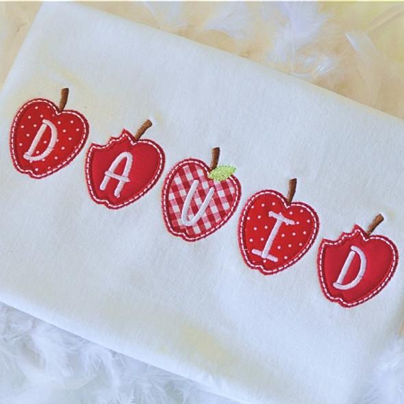 Tiny Apple Alpha Machine Embroidery Design