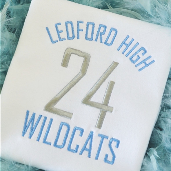 Jersey Font Machine Embroidery Design
