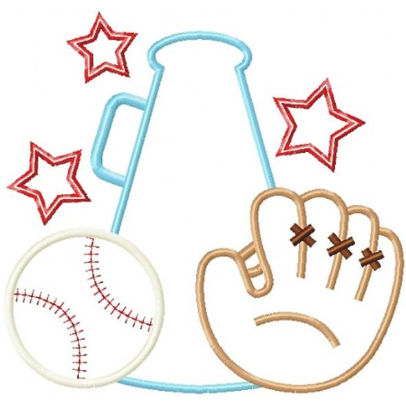 Baseball Cheer Applique
