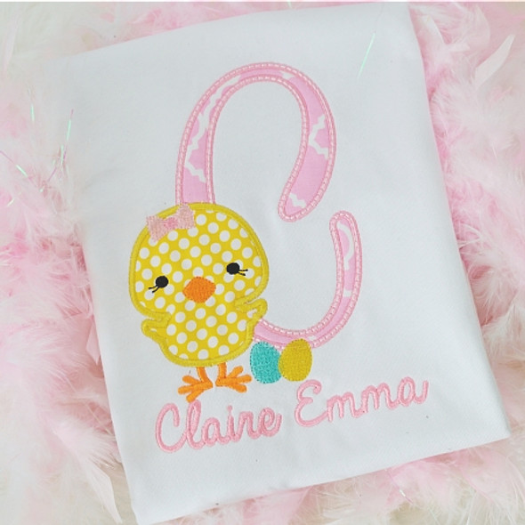 Chick Alpha Machine Embroidery Design