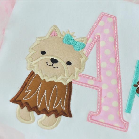 Sweet Yorkie Alpha Machine Embroidery Design