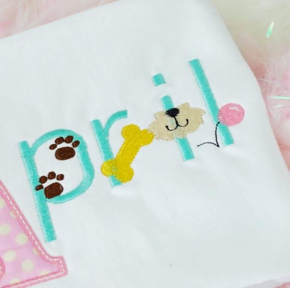 Puppy Font Machine Embroidery Design