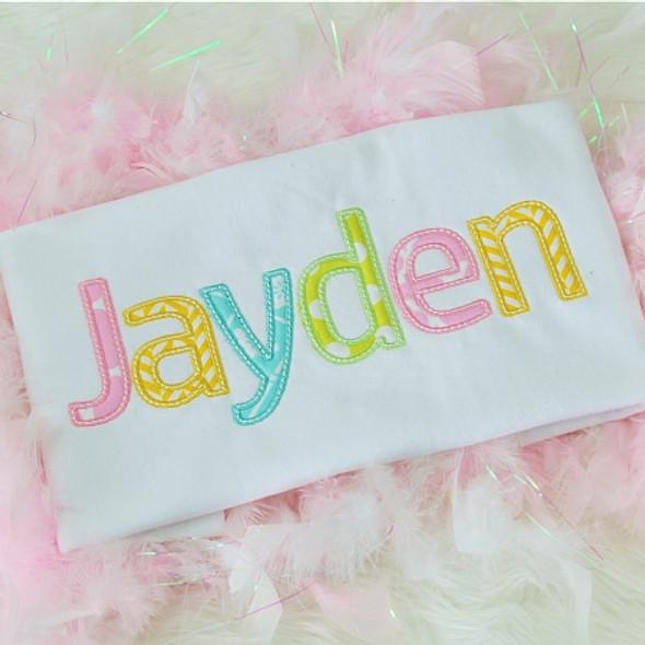 Jayden Alpha Machine Embroidery Design