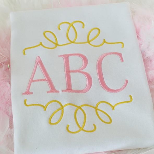 Yuna Monogram Set Machine Embroidery Design