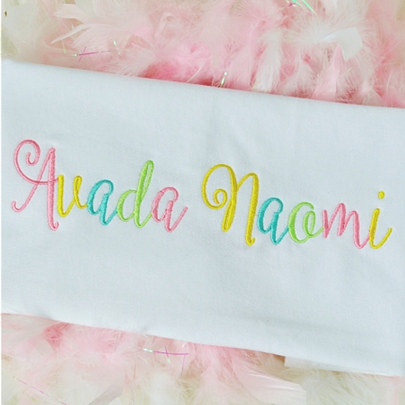 Avada Embroidery font Machine Embroidery Design
