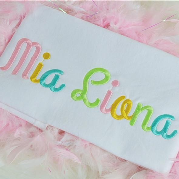 Mia Font Machine Embroidery Design