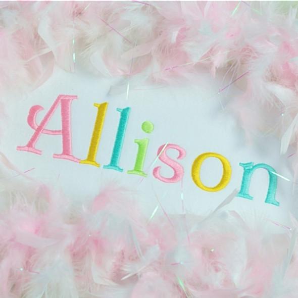 Allison Font Machine Embroidery Design