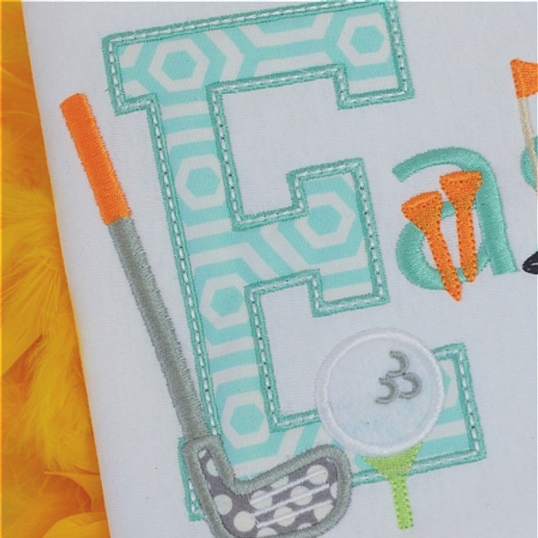 Golf 2 Alpha Machine Embroidery Design