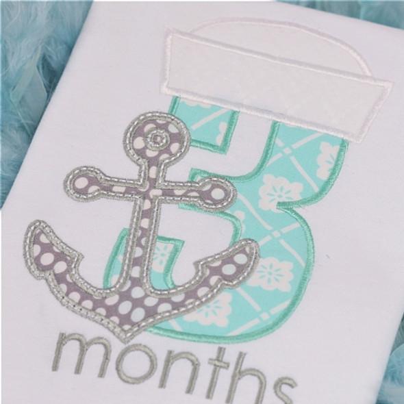 Nautical Birth Months Machine Embroidery Design