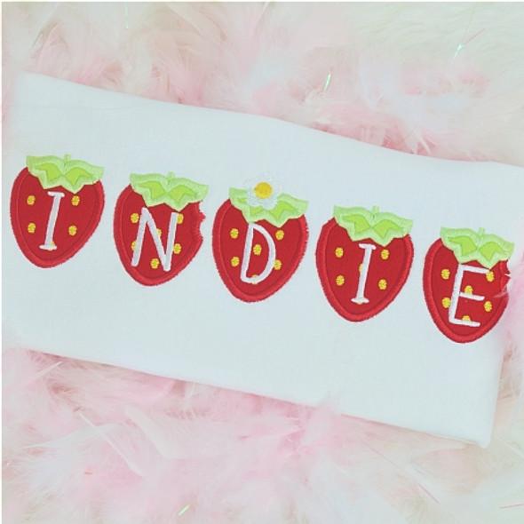 Tiny Strawberry Alpha Machine Embroidery Design