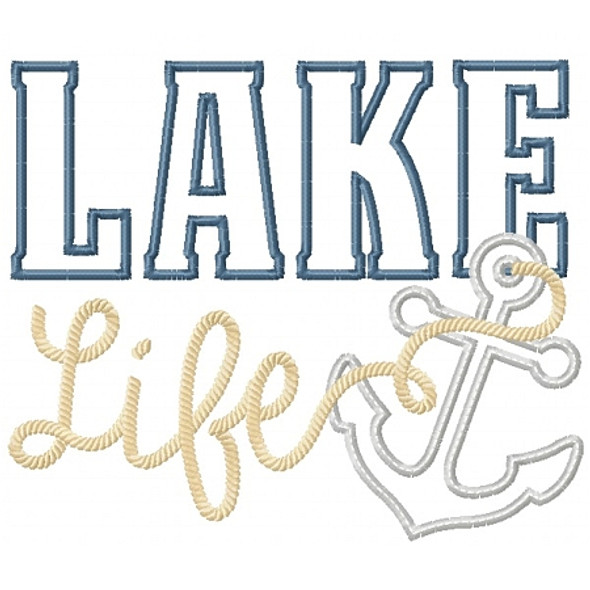Lake Life Applique Machine Embroidery Design