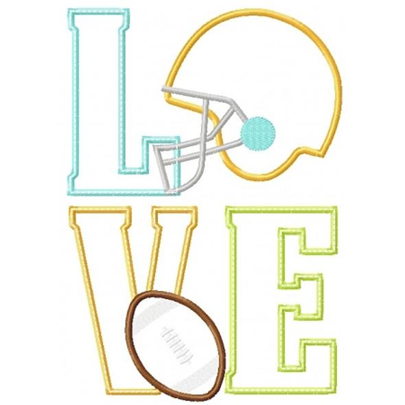 Football Love Applique
