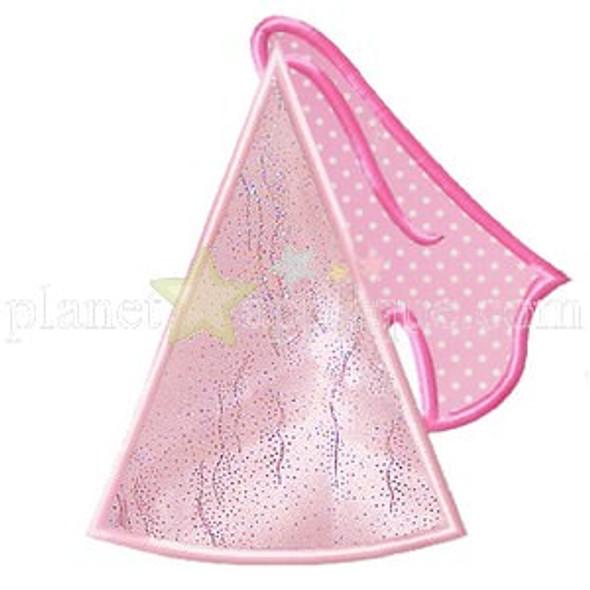 Princess Hat Applique Machine Embroidery Design