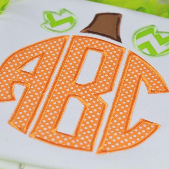 Pumpkin Monogram Alpha