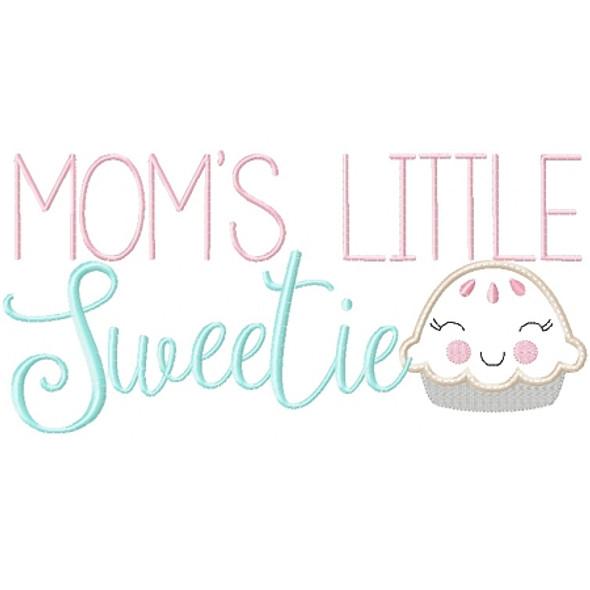 Moms Little Sweetie Pie Machine Embroidery Design