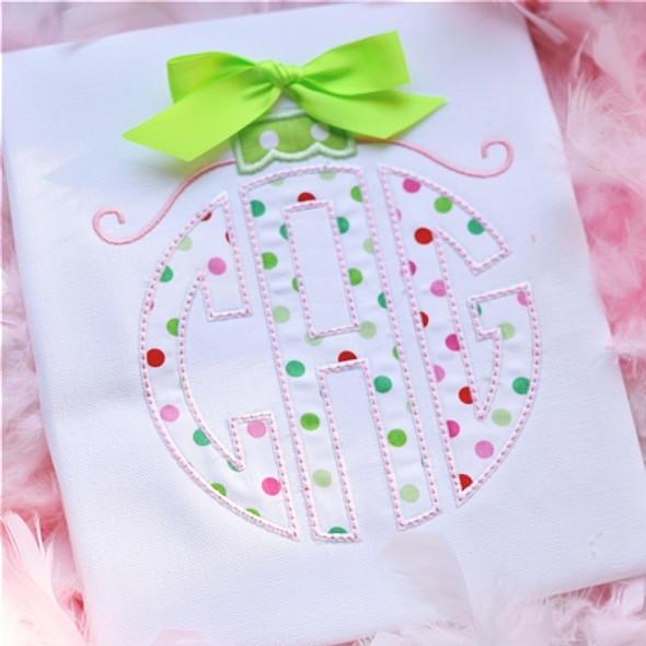 Circle2 Ornament Monogram Machine Embroidery Design