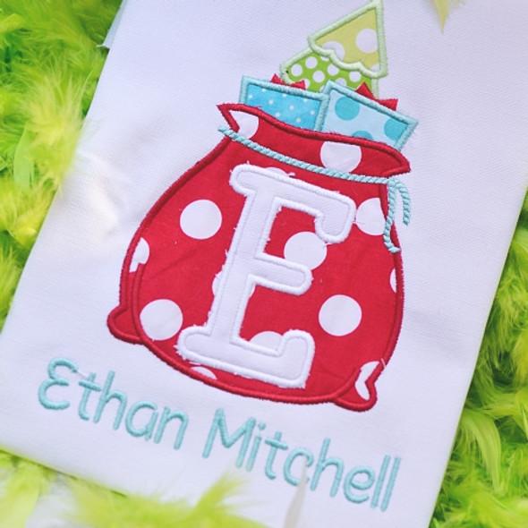 Santa's Bag Alphabet Machine Embroidery Design