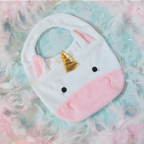 ITH Unicorn Baby Bib Machine Embroidery Design