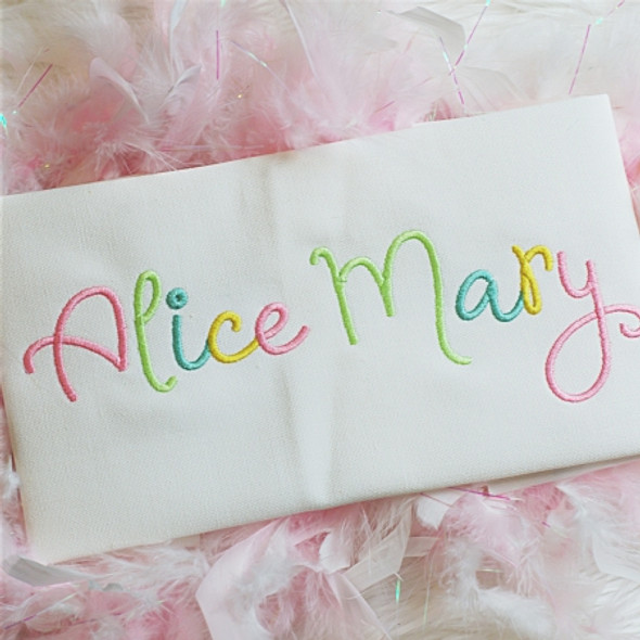 Alice Embroidery Font Machine Embroidery Design