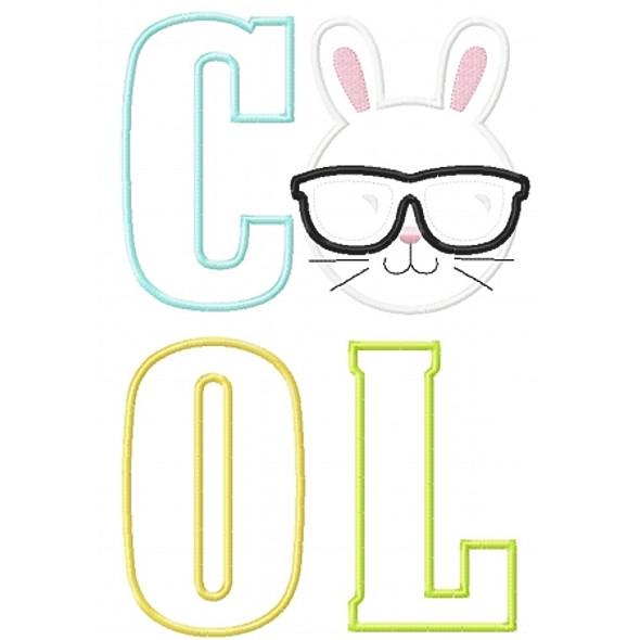 Cool Bunny Applique