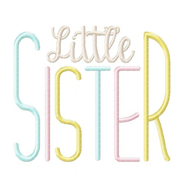 Simple Sister Set Machine Embroidery Design