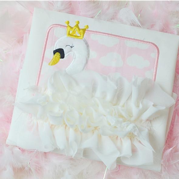 Swan Patch Applique Machine Embroidery Design