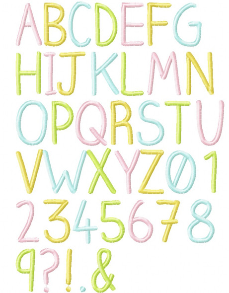 Santina Embroidery Font Machine Embroidery Design