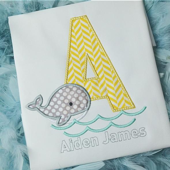 Whale Alpha Machine Embroidery Design