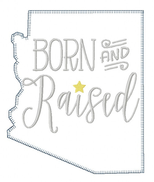 Arizona Born and Raised Blanket and Vintage Stitch Applique