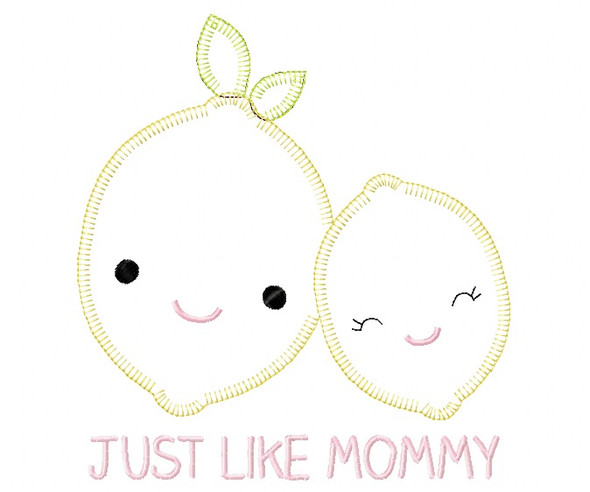 Like Mommy Lemons Blanket and Vintage Stitch Applique Machine Embroidery Design